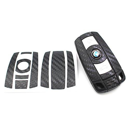 Finest-Folia UG - Pellicola decorativa per chiave, effetto carbonio, per BMW E60 / E61 / E90 / E91 / E92 / X5 / E70 / X6 / E71 / E81 / E82 / E87 / E88 / Serie 1 / Z4 / E89 / X1 / E84 / M