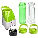 Smoothie Maker AD4054g de Adler, batidora con 2 botellas/vasos para batido cerrables de 600 ml y un cuchillo para verdura