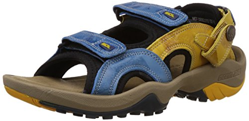 Woodland Men's Blue Leather Sandals and Floaters - 9 UK/India (43 EU)