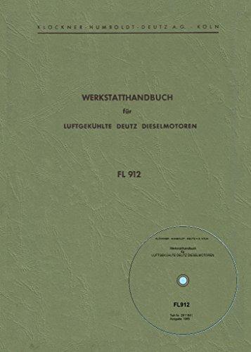 Preisvergleich Produktbild CD Werkstatthandbuch Deutz Motor F2L912 - F2L912 - F3L912 - F4L912 - F6L912