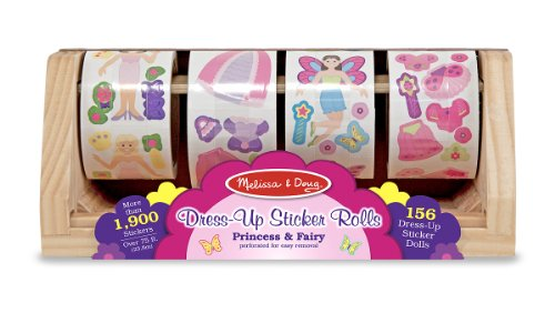 Melissa & Doug Dress-Up Princess and Fairy Sticker Rolls by Melissa & Doug