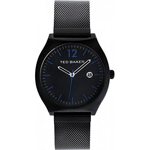 Ted Baker pour homme Te3045vintage Triple Noir Bracelet Bleu Accents montre (Reconditionné Certifié)