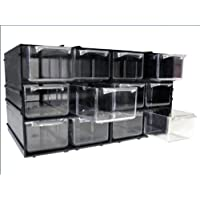 Modular storage cabinet/organiser with transaprent drawers, 4 setups