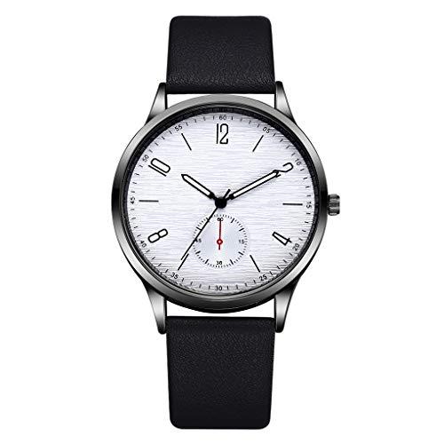 Kakiyi Männer-Legierung Kasten-Quarz-Uhr-einfache Entwurfs-Geschäft rundes Zifferblatt PU-Lederband Junge Armbanduhr -