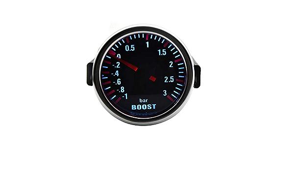 Nologo Odometer Spur Selbstlehre 2 52mm Mechanische Turbo Boost Wagen Spur Meter Auto White Led Universal Zhqhyqhhx Küche Haushalt