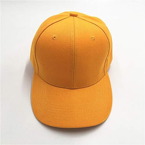 Kostüm Kolonial Hut - mlpnko Gebogene Männer und Frauen Baseballmütze Paar Volltonfarbe Kappe im Freien Sonnenschirm Hut Kurkuma 56-58cm