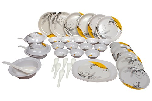 Royal Sapphire Desinger Plastic Dinner Set, 38-Pieces