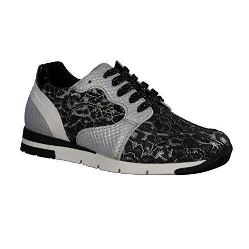 Tamaris 1-23635-35-982, Sneaker Mujer Gris Gris Negro (schwarz Kombi)
