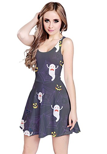 CowCow - Robe - Femme Orange Bats Gray Ghosts