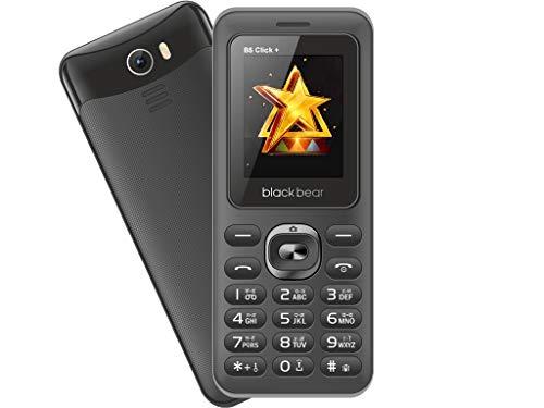 Blackbear B5 Click Plus Dual Sim 1.8 Display, 1100 mAh Battery, Talking Keypad, Digital Camera, Auto Call Recording (Black&Grey)