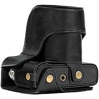 MegaGear mg576–Funda de Protección de piel con bandolera/acceso batería para cámara Fujifilm x-t20(16–50mm/18–55mm lente)/X-T10negro