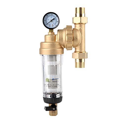 """Purificador frontal de agua, Filtro de agua frontal giratorio, Filtro de agua de sedimentos HD para toda la casa, Filtro de agua de sedimentos giratorio reutilizable,With1""""MNPT"""