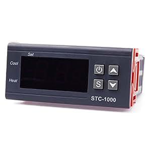XCSOURCE® Contrôleur de température 220V Thermostat Capteur de température numérique relais de contrôle TE54
