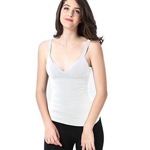 Geekbuzz Damen Unterhemd Weiß