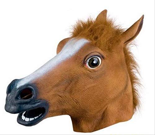 dhude Deluxe Neuheit Halloween-kostüm-Party Latex Animal Head Maske Pferd Kopf
