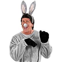 Set de burro con orejas y boca animales carnaval mula hocico zoo