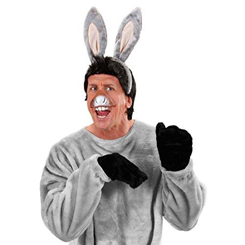 NET TOYS Esel Maske Set Eselsohren und Maul Maultier Karnevalsmaske Tierohren und Schnauze Donkey Faschingsmaske Tiermaske Zoo Kostüm Accessoire (Donkey Ohren Kostüme)