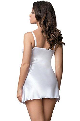 Excellent Beauty U-811 Sensuelle Jolie Chemise De Femmes – Fabriqué En UE Blanc