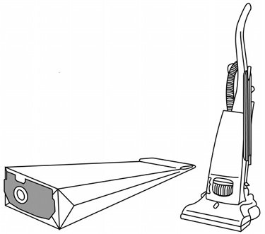 Dust Bags X 20 To Fit Electrolux Widetrack Upright Vacuum Cleaners - Equivalent To E60n Paper Bags Picture