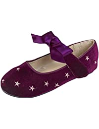Dora Lora Kinder Mädchen Samt Glitter Party Mary-Jane-Schuhe Ballerina  Pumps Schuh Ballerinas 378a88e43b