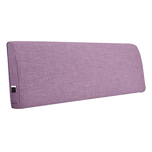HAIPENG Rückenlehne Bett Kissen Nachttisch Weich Abdeckung Ohne Kopfteil Kopfstütze Gepolstert Lendenwirbelsäule Pads Entfernbar Waschbar, 7 Farben, Multi Größen (Farbe : 4#, Größe : 200x10x55cm)