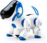 Playtech Logic Electronic Puppy Robot Dog Light Up Girls Boys Toys with Sound, Nodding Barking Walking Pet Dog Toy for Kids plus Bump and Go