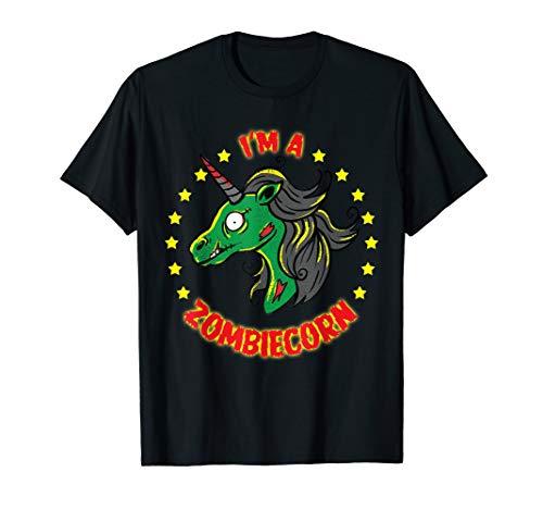 Einhorn Zombie Kostüm - Zombiecorn Zombie Unicorn Böses Einhorn Halloween Kostüm T-Shirt