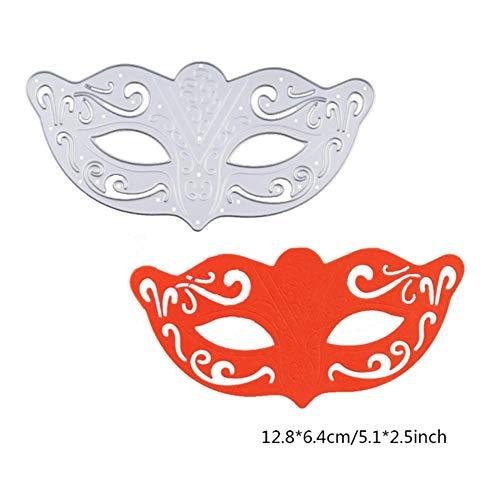 PTOBBA Halloween Schädel stirbt Maske Metall Stanzformen Neue 2018 Kohlenstoffstahl Stanzformen für Scrapbooking/Fotoalbum Dekorative, Maske stirbt