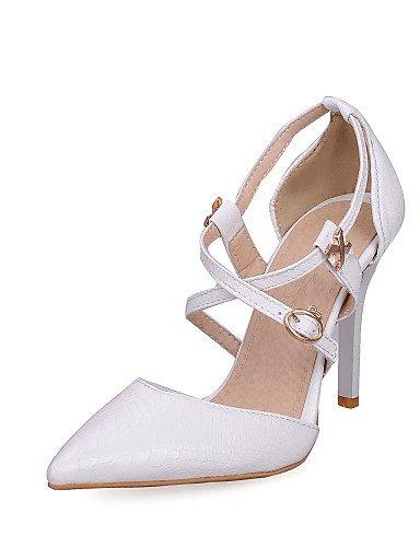 UWSZZ IL Sandali eleganti comfort Scarpe Donna-Sandali / Scarpe col tacco-Ufficio e lavoro / Formale / Casual-Tacchi / A punta-A stiletto-Finta pelle-Nero / Rosso / Bianco Red