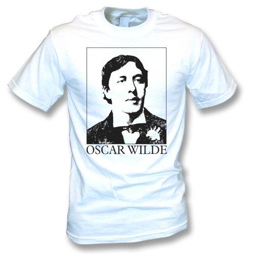 TshirtGrill Oscar Wilde (As worn By Morrissey) T-shirt - Girls Slimfit, Color White