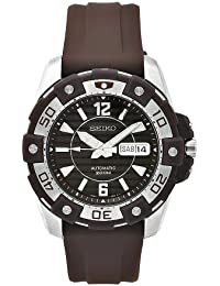 Seiko Men's SKZ275 Diver's Brown Rubber Automatic Brown Dial Watch