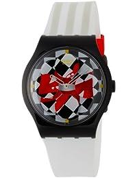 Swatch SUPB100 - Reloj de mujer de cuarzo, correa de plástico color blanco