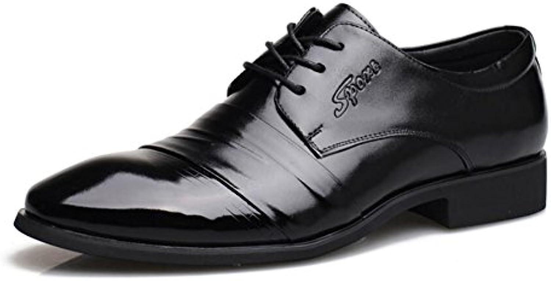 Zapatos de Hombre Zapatos de Cuero de Microfibra 2018 Spring/Fall Comfort Oxfords Zapatos de Caminar Negro Hombres  -