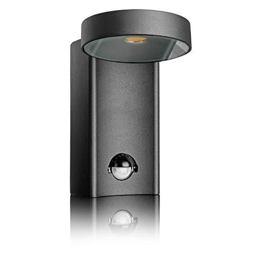 SEBSON LED Lámpara de Exterior con Sensor Movimiento, Aplique de Pared, Negro, Aluminio, 10W, 950lm...