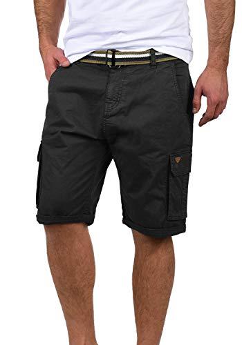 Blend Brian Herren Cargo Shorts Bermuda Kurze Hose Mit Gürtel Regular Fit, Größe:XL, Farbe:Black (70155)