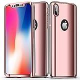 AlsoarCoque Etui iPhone 8 Plus Case Avant et Arrière Intégral 360° Full Protection...