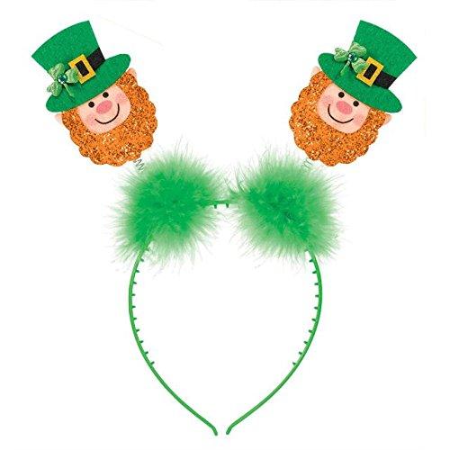 amscan 39816826x 11cm St. Patrick 's Day Glitzer Leprechaun Head Bopper