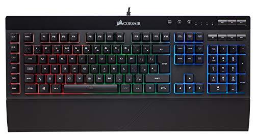 Corsair K55 RGB Tastiera Gaming, Retroilluminato RGB Multicolore, Italiano QWERTY, Nero [Italia]