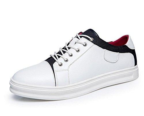 Wzg Homens Outono E Inverno Sapatos Brancos Artesanal De Couro Sapatos Casuais, Sapatos De Desporto Plana Selvagem Renda Branca