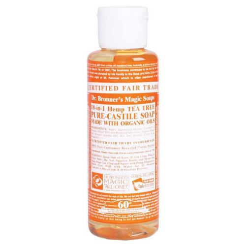 Dr. Bronner Tea Tree Pure-Castile Soap - 4 Fluid Ounces  available at amazon for Rs.1929