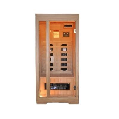 """Interline 45990500 Infrarot-Wärmekabine, Vorderwand Glas/ """"Hemlock"""" inklusive CD Spieler 90 x 90 x 190 cm von Interline auf Du und dein Garten"""