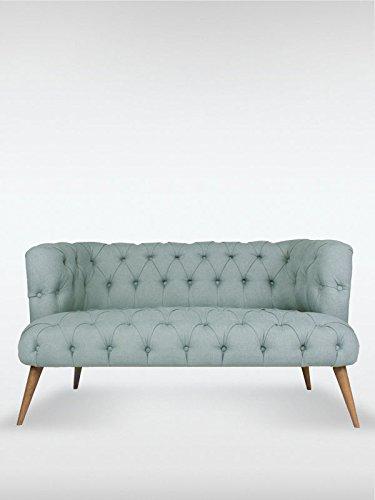 2-Sitzer Vintage Sofa Couch-Garnitur Palo Alto indigo-blau 140 cm x 76 cm x 75 cm