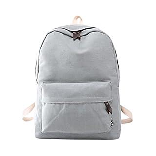 AutumnFall 2017 New Fashion Women Girls Canvas Backpack Girls Preppy Bookbags Travel Bag (Gray)
