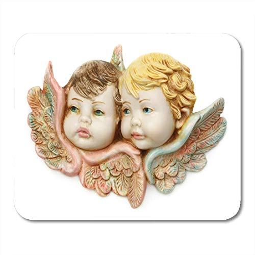Luancrop Mauspads Pink Cherub Blue Angelic Guardian Baby Engel White Boy Mauspad für Notebooks, Desktop-Computer Matten Bürobedarf -