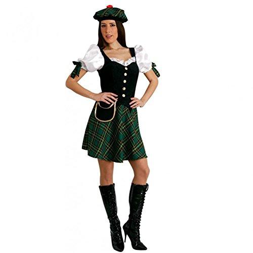Preisvergleich Produktbild Mortino Kostüm Schottin Gr. S- XL Kleid grün kariert Fasching Verkleidung Schottland (S)