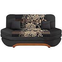 mirjan24 sofa weronika sving mit bettkasten und schlaffunktion bettsofa mit blumenmuster couch vom hersteller