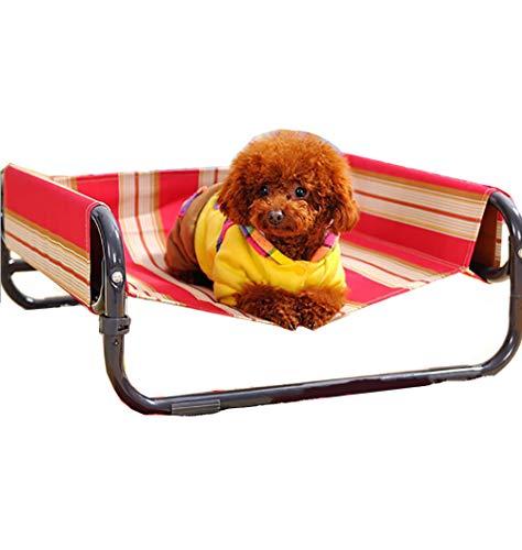 Rockingtail Outdoor Hundebett Erhöhte Haustierbett mit Baldachin Tragbar für Camping Langlebig Tragen Faltbare Liege Atmungsaktiv Wasserdicht Nicht feucht,M-71x71x29cm -