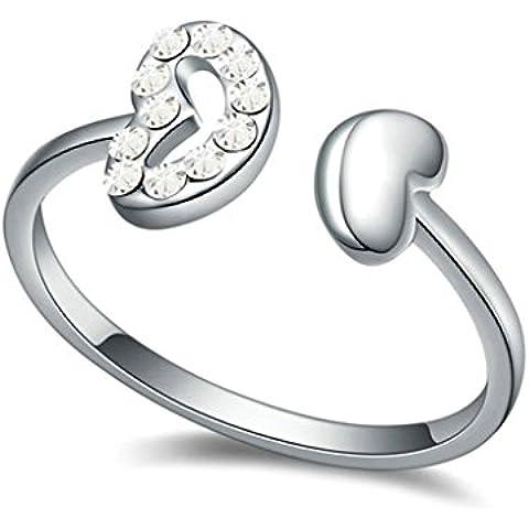 AieniD Anelli Donna Matrimonio Placcato Oro Cuore Zirconia Cubica Fidanzamento Anelli per Donne