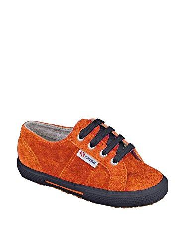 Superga 2950 Suej Lacets, Unisex - Kinder Sneaker Dk Orange