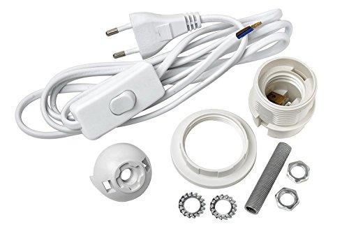 VBS Tischlampen-Anschlusskabel-Set E27 weiß